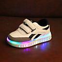 ieftine Pantofi Fetițe-Băieți / Fete Pantofi PU Toamna iarna Confortabili / Pantofi Usori Adidași Cârlig & Buclă / LED pentru Copii / Copil Alb / Negru