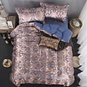 זול כפפות דוביט פרחוני-סטי שמיכה פאר polyster ג'אקארד 4 חלקיםBedding Sets / 300 / 4 יחידות (1 כיסוי שמיכה, 2 כיסוי כרית, 1 סדין)