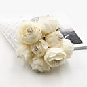 זול פרח מלאכותי-פרחים מלאכותיים 1 ענף קלאסי חתונה / פרחי חתונה Camellia פרחים לשולחן