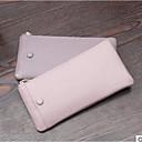 halpa Luomivärit-naisten laukut nappa nahka matkapuhelin pussi vetoketju punastua vaaleanpunainen / musta