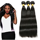 cheap Human Hair Weaves-3 Bundles Indian Hair Straight Human Hair / Unprocessed Human Hair Gifts / Natural Color Hair Weaves / Hair Bulk / Tea Party Favors 8-28 inch Natural Color Human Hair Weaves Smooth / Party / Hot Sale