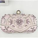ieftine Genți De Seară & Plicuri-Pentru femei Genți PU Geantă Seară Detalii Cristal Roz Îmbujorat