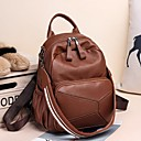 hesapli USB-Kadın's Çantalar PU sırt çantası Fermuar için Günlük İlkbahar & Kış Kahverengi / Siyah