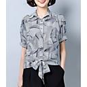 abordables Velos de Boda-Mujer Trabajo Camisa, Cuello Camisero Geométrico
