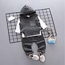 ieftine Pantaloni Băieți-Bebelus Băieți Casual / De Bază Zilnic / Gril pe Kamado  Alb negru Houndstooth / Carouri Manșon Lung Regular Regular Bumbac Set Îmbrăcăminte Maro / Copil