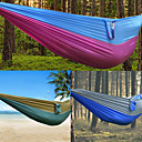 cheap Camping Furniture-DesertFox® Camping Hammock Outdoor Wearable, Travel High Density Ripstop for Hiking / Camping - 2 person Dark Blue / Fuchsia / Coffee