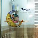 cheap Wall Stickers-Window Film & Stickers Decoration Simple Print PVC(PolyVinyl Chloride) Window Sticker