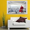 billige Veggklistremerker-Dekorative Mur Klistermærker - 3D Mur Klistremerker / Folk Wall Stickers Dyr / Jul Barnerom