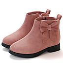 billige Sneakers til børn-Pige Syntetisk Støvler Små børn (4-7 år) / Store børn (7 år +) Støvle Brun / Lys pink / Bourgogne Efterår / Vinter