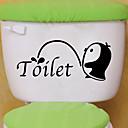 זול מדבקות קיר-מדבקות לשירותים - מדבקות קיר חיות סלון / חדר שינה / מקלחת
