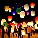 cheap Wedding Decorations-10Pcs/Set Multi Color High Quality Chinese Lantern Fire Sky Fly Candle Lamp For Birthday Wedding Party Lantern Wish Lamp Sky Lanterns