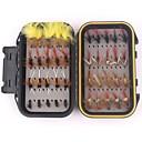זול כלי דייג-40 pcs ווי דיג / ערכות דיג / אביזרי דייג זבובים נוצות / מתכת פחמית קל ונוח / קל לשימוש דיג בים / דיג בחכה / הטלת פיתיון / דיג קרפיון / דיג בפתיון / דיג כללי / חכות וסירת דיג