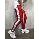 povoljno Muške duge i kratke hlače-Muškarci Osnovni / Ulični šik Chinos / Sportske hlače Hlače Jednobojni Blue & White / Crno-crvena / Crno-bijela