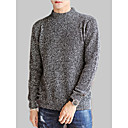 cheap Anime Costumes-Men's Long Sleeve Cashmere / Wool Loose Pullover - Solid Colored Round Neck