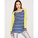 cheap Dance Boots-Women's Active T-shirt - Striped / Color Block / Spring / Fall / Fine Stripe