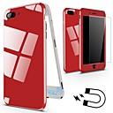 Χαμηλού Κόστους Θήκες iPhone-tok Για Apple iPhone X / iPhone 8 Ανθεκτική σε πτώσεις / Μαγνητική Πλήρης Θήκη Μονόχρωμο Σκληρή Μεταλλικό για iPhone X / iPhone 8 Plus / iPhone 8
