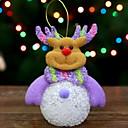 olcso Karácsonyi dekoráció-Karácsonyi figurák Ünneő Pamutszövet Négyzet Rajzfilm / Újdonságok Karácsonyi dekoráció