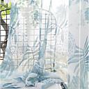 halpa Ikkunoiden verhot-Eurooppalainen Läpinäkyvät verhot Shades 2 paneeli Sheer / Kohokuvioitu / Makuuhuone