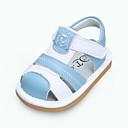 זול נעלי ילדות-בנים / בנות נעליים עור קיץ צעדים ראשונים סנדלים סקוטש ל תינוק אדום / ורוד / כחול בהיר