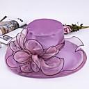 preiswerte Parykopfbedeckungen-Tüll / Perlen besetzt / Organza Hüte / Kopfbedeckung mit Perle / Kappe / Kaskaden Rüschen 1pc Freizeitskleidung / Draussen Kopfschmuck