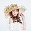 cheap Party Headpieces-Tulle Hats with Ruffle 1pc Wedding / Party / Evening Headpiece