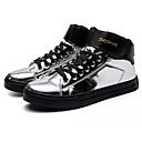 ราคาถูก รองเท้าผ้าใบผู้ชาย-สำหรับผู้ชาย PU ตก ความสะดวกสบาย รองเท้าผ้าใบ ลายบล็อคสี สีทอง / สีดำ / สีเงิน