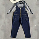 ieftine Seturi Îmbrăcăminte Fete-Copii Fete De Bază Mată Manșon scurt Poliester Set Îmbrăcăminte Albastru piscină