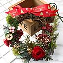 preiswerte Strumpfbänder für die Hochzeit-Girlanden Urlaub Hölzern Kreisförmig hölzern Weihnachtsdekoration