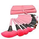 baratos Luz LED Ambiente-24pcs Pincéis de maquiagem Profissional Maquiagem Cobertura Total De madeira / bambu