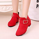 cheap Girls' Shoes-Girls' Shoes Suede Spring &  Fall Bootie / Flower Girl Shoes Boots for Black / Red / Pink