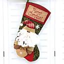 baratos Smartwatch Acessórios-Meias de Natal Férias Poliéster Quadrada Novidades Decoração de Natal