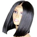 olcso Emberi hajból készült parókák-Emberi haj Csipke eleje Paróka Brazil haj / Burmai haj Egyenes Paróka Bob frizura 130% Női / Egyszerű öntettel / Legjobb minőség Természetes Női Rövid Emberi hajból készült parókák