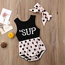 ieftine Set Îmbrăcăminte Bebeluși-Bebelus Fete Activ Imprimeu Fără manșon Bumbac bodysuit