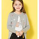 povoljno Kompletići za djevojčice-Djeca Djevojčice Osnovni Print Dugih rukava Regularna Poliester Džemper i kardigan Sive boje 110