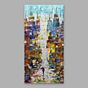 ieftine Picturi în Ulei-Hang-pictate pictură în ulei Pictat manual - Abstract Modern Includeți cadru interior / Stretched Canvas