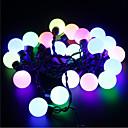 baratos Estolas de Casamento-5m 20 LEDs Halloween Natal luzes decorativas festivas tira luzes-grandes contas de luz rosa claro (220v)
