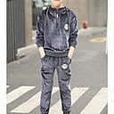 povoljno Jakne i kaputi za dječake-Djeca Dječaci Osnovni Jednobojni Vezanje straga / Kolaž Dugih rukava Pamuk Komplet odjeće