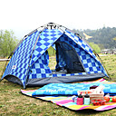 cheap Robe Hooks-BSwolf 3 person  Outdoor Family Tent Windproof Rain-Proof Breathability Wearable Automatic One Room Double Layered 2000-3000 mm Camping Tent  for Fishing Beach Camping / Hiking / Caving Oxford Cloth