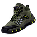 זול נעלי ספורט לגברים-בגדי ריקוד גברים נעלי נוחות PU סתיו ספורטיבי נעלי אתלטיקה טיפוס ללא החלקה פסים אפור / חום / חאקי