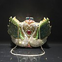 cheap Clutches & Evening Bags-Women's Bags Alloy Evening Bag Crystals / Hollow-out Animal Rainbow