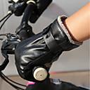 tanie Czujniki i alarmy-Pełny palec Męskie Rękawice motocyklowe Skóra Zatrzymujący ciepło