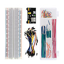 cheap Motherboards-Keyestudio 830 Tie-Points Breadboard + Breadboard Power Module + Breadboard Wire Pack of 65 + Box-Packed Jumper Wire Bundle