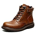 abordables Botas de Hombre-Hombre Botas de Combate Ante Otoño Casual Botas Impermeable Mitad de Gemelo Negro / Marrón / Al aire libre
