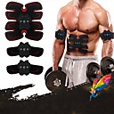 cheap Fitness Gear & Accessories-Abs Stimulator / EMS Abs Trainer With 6 pcs 33 cm Diameter PU Leather / Polyurethane Leather Electronic, Non Toxic, Strength Training Muscle Toning, Massage, Build Muscle, Tone & Tighten For Men