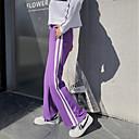 זול בגדי ריצה-בגדי ריקוד נשים גיזרה גבוהה מכנסיים רצים מכנסי ריצה מסלול מכנסי ספורט רגל רחבה ספורט חורף מכנסי טרנינג תחתיות כושר וספורט כושר אמון להתאמן נושם ייבוש מהיר רך פס שחור סגול אדום כחול S M L XL