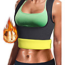 cheap Cycling Underwear & Base Layer-Body Shaper Hot Sweat Workout Tank Top Slimming Vest Shapewear Neoprene No Zipper Weight Loss Tummy Fat Burner Waist Trainer Yoga Exercise & Fitness Gym Workout For Women's