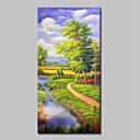 povoljno Apstraktno slikarstvo-Hang oslikana uljanim bojama Ručno oslikana - Pejzaž Klasik Moderna Bez unutrašnje Frame / Valjani platno
