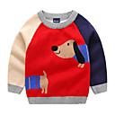 povoljno Džemperi i kardigani za dječake-Djeca Dječaci Aktivan Dnevno Geometrijski oblici / Color block Dugih rukava Regularna Poliester Džemper i kardigan Plava 100