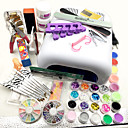 cheap Manicure & Pedicure Tools-New Pro 36W UV GEL White Lamp & 12 Color UV Gel Nail Art Tools Sets