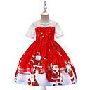 זול מדבקות קיר-שמלה עד הברך שרוולים קצרים אנימציה Party / חגים וינטאג' / פעיל בנות ילדים / פעוטות
